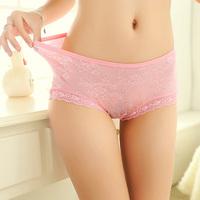 4 sexy lace panties charming female temptation mid waist plus size seamless women's briefs