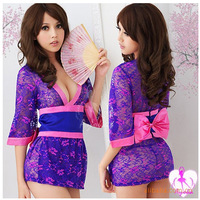 Free shipping wholesale costumes bustiers & corsets erotic lingerie sleepwear kimono japan