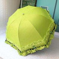 Free shipping Vintage umbrella anti-uv double layer vinyl lace sun protection super sun umbrella princess umbrella