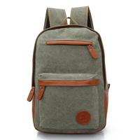 Hot sale: Backpack canvas backpack casual travel bag double-shoulder computer backpack student school bag