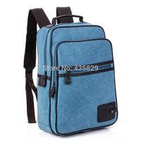 Hot sale: 2014 100% Cotton Canvas two strape Backpack School bag laptop bag travel bag