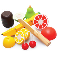 Wooden toy fruit baby child puzzle