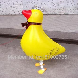 10pcs/Lot, Free Shipping, Duck Pet Walking Animals Balloons Hulium Mylar Balloons, Baby's toy, Party Decoration. Gift.(China (Mainland))