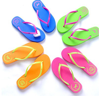 2014 New Hot Sale PINK Flat Heel Flip Slippers Comfortable Summer Beach Flip Flops Brief Casual Sandals Shoes For Women 174