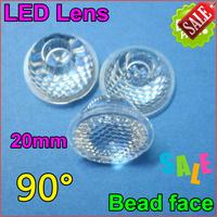 50pcs/lotLed lenses 20mm led lens 90 deg without holder beads surface for LED light lamps DIY! led high power lens free shipping