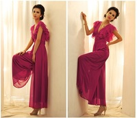 2014 New Arrival Spring Summer Women's Deep V Jumpsuit Ruffled Cuff Lady's Tall Waist Backless Jumpsuit Free Shipping