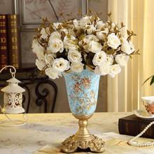 2014 Fashion quality vintage rustic ceramic small vase flower living room decoration luxury crafts(China (Mainland))