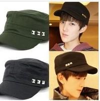 2014 new fashion 3 rivet baseball caps casual cotton hat unisex 5 colors