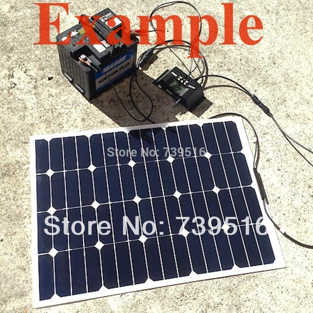 60W Light weight, thin film semi flexible solar power panel , pv