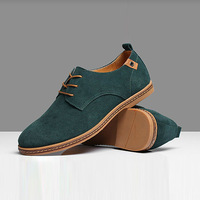 Men's fashion  Genuine leather casual suede shoes  Korean version of the British men sneakers size 38-47