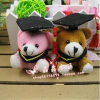 Little doctor Bear Pendant graduation bear, cartoon bouquet doll, University Bears Plush toys, graduation gift wholesale