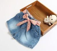 2014 new Summer Children's Clothing Child Light Color Water Wash Shorts Girls Washing Denim Short Jeans Boy Children Jean