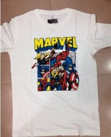 Free Shipping Most Discount Marvel Brand Cheap Four Colors Tee T Shirt With SIze S M L XL Do Free Drop Shipping By China Post