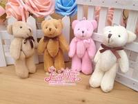 11cm tie joints bear, teddy bear wedding celebration, Cartoon bouquet doll wholesale, plush dolls