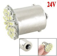 Free Shipping LED car light 24V 1156 BA15S 22 LED 1206 SMD white color car turn light back light 1156 Socket