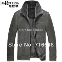 Sheepskin fur berber fleece coat male short design fur one piece genuine leather clothing
