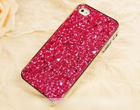 glitter Bright shining for iPhone4 4s phone shell for Apple iphone 5 5s shell protective sleeve sequined +Gift protective film