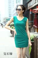 Women large size dress sleeveless,sexy summer sundress,candy color tank dress,S-2XL