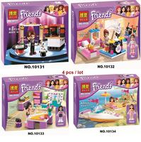 Hot Toy Bela Building Blocks Friends 4sets/lot Construction Sets Educational Bricks Toy for Girl Compatible Bricks Gift