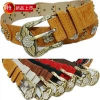 Fashion pigskin rhinestone belt genuine leather strap women's strap women's belt decoration belt cummerbund vintage