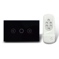 2014 hot Free Shipping RF Remote Control Dimmer Switch US Standard Glass Panel Light Glass Switch with  LED Indicator AC110-240V