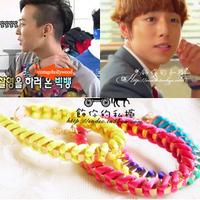 Bigbang colorful knitted bracelet
