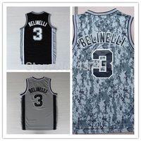 New Three-Point King San Antonio # 3 Belinelli black Rev 30 Embroidery Lgos Basketball jersey Free Shipping