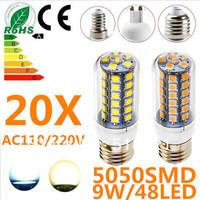 20X 9W 48LED 5050 SMD E27 E14 B22 G9 GU10 Corn Bulb Light Maize Lamp LED Light Bulb LED Lamp Warm/Cool White
