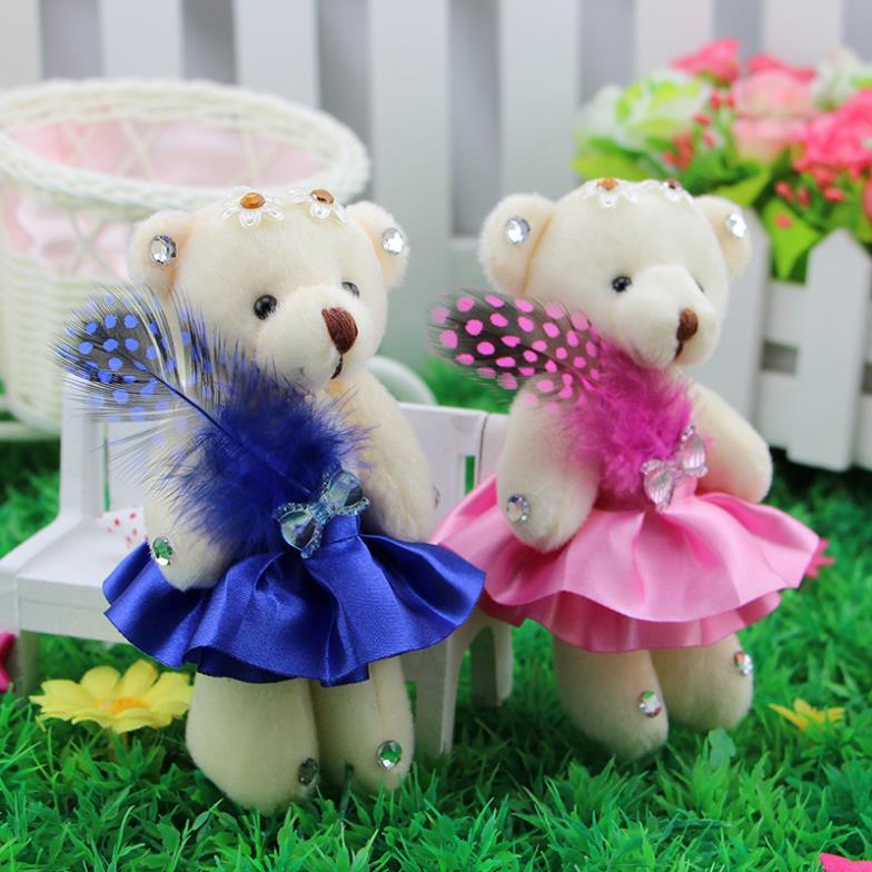 Angel diamond Teddy bear joint bear cartoon bouquet of flowers, flower bag doll wedding gifts small Tactic bear wholesale(China (Mainland))