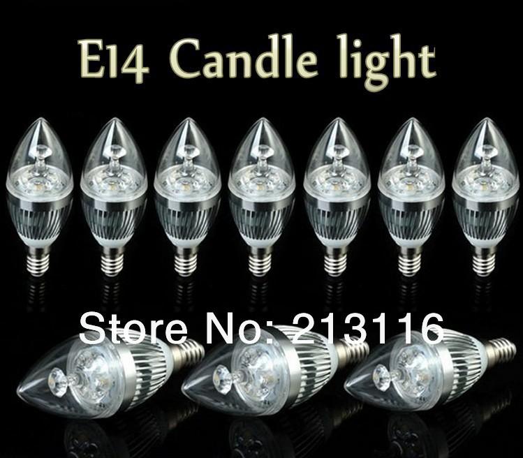 FREE Shipping 5X E14 E12 E27 E26 3x3W 9W 12w 15w Dimmable AC85~265V LED Silver Candel Light LED bulb lamp LED spotlight lighting(China (Mainland))