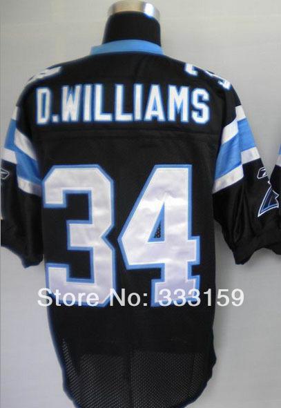 DeAngelo Williams Jersey 34 DeAngelo Williams Men's Elite Team Black Football Jersey 333159 Men's Sports Jersey(China (Mainland))
