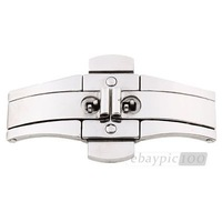Stainless Steel Double Push Button Butterfly Clasp Buckle for Watch Strap Bands