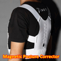 Free Shipping 1PCS New Magnetic Back Posture Support Corrector Body Back Pain Belt Self-adhesive Brace Shoulder Posture Spor
