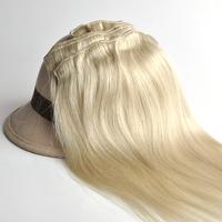 "100% real Brazilian  virgin remy  Hair Clip in Human hair  Extensions 14"" -30"" 70g -120g 7Pcs/Set  #60 meidum  blonde"