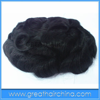 """Free Shipping 10"""" x 7"""" Natural Hair 25mm Curl Stock Men Toupee / Men's Wig/ Hair Replacement"""