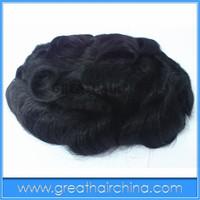 """free shipping 10"""" x 7"""" Brazilian Human Hair 25mm Curl Stock Men Toupee / Men's Wig/ Hair Replacement"""