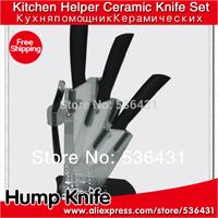 """3"""" 4"""" 5 """"inch 6 color Handle Can Select Ceramic Knife Set + Peeler + Holder kitchen ceramic knives"""