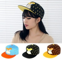 sweet cartoon rabbit raindrop flat along the hip-hop dance baseball caps hat for women free shipping