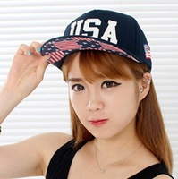 stars American flag USA letters along the hip-hop baseball cap,NEW fashion hat free shipping