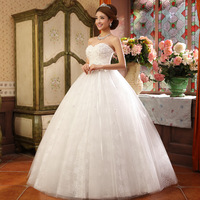 2014 princess bridal tube top sweet flower wedding qi formal dress