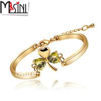 Fashion Women Jewelry Shampooers zircon bracelet 1586 charm gold plated bracelet for girlfriend gifts Free Shipping