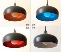 Modern brief single-head pendant light aluminum bar dining room pendant light