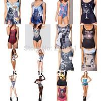 Sexy Women's Black Milk Cover-ups Galaxy Bikini Swimwear Bathing Suits Swimsuits Skull Animal Ring
