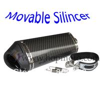 Pit Bike  38mm Exhaust Muffler  with move blow-down silencer /Mute Carbon fiber dirt bike detuner use