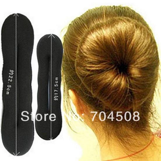 FD382 Magic Foam Donut Maker Roller Curl Twist Clip DIY Shape Sponge Hair ~2PCs~(China (Mainland))
