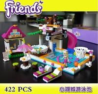 Bela Building Blocks Friends Swimming Pool Construction Educational Bricks Toys for Girls Lego Compatible Bricks Free Shipping
