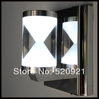 Brief modern LED wall lamp LED mirror light with switch led bedroom/bathroom/stair lights aisle wall lamp stainless steel acryl