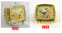 Free shipping replica 18K gold 1992 1993 Toronto Blue Jays Baseball World Championship Ring