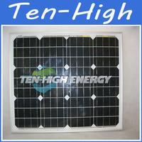 Fedex freeshipping!  (2pc/lot)50W 18V Module Monocrystalline Solar Panel