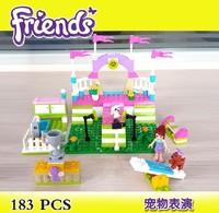Bela Building Blocks Friends Pet's Show 10159 Construction Sets Educational Bricks Toys for Girls Compatible Bricks Gift